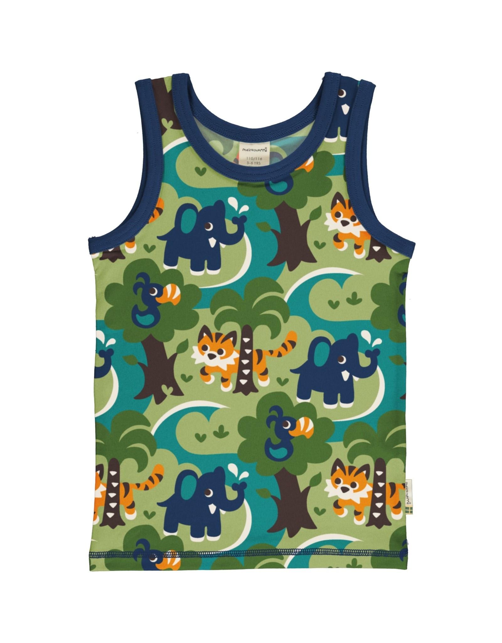 Maxomorra Mouwloze t-shirt met jungle print