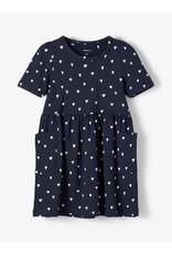 Name It Donkerblauw kleedje met hartjes