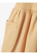 Name It Geel gestreept kleedje met korten mouwen