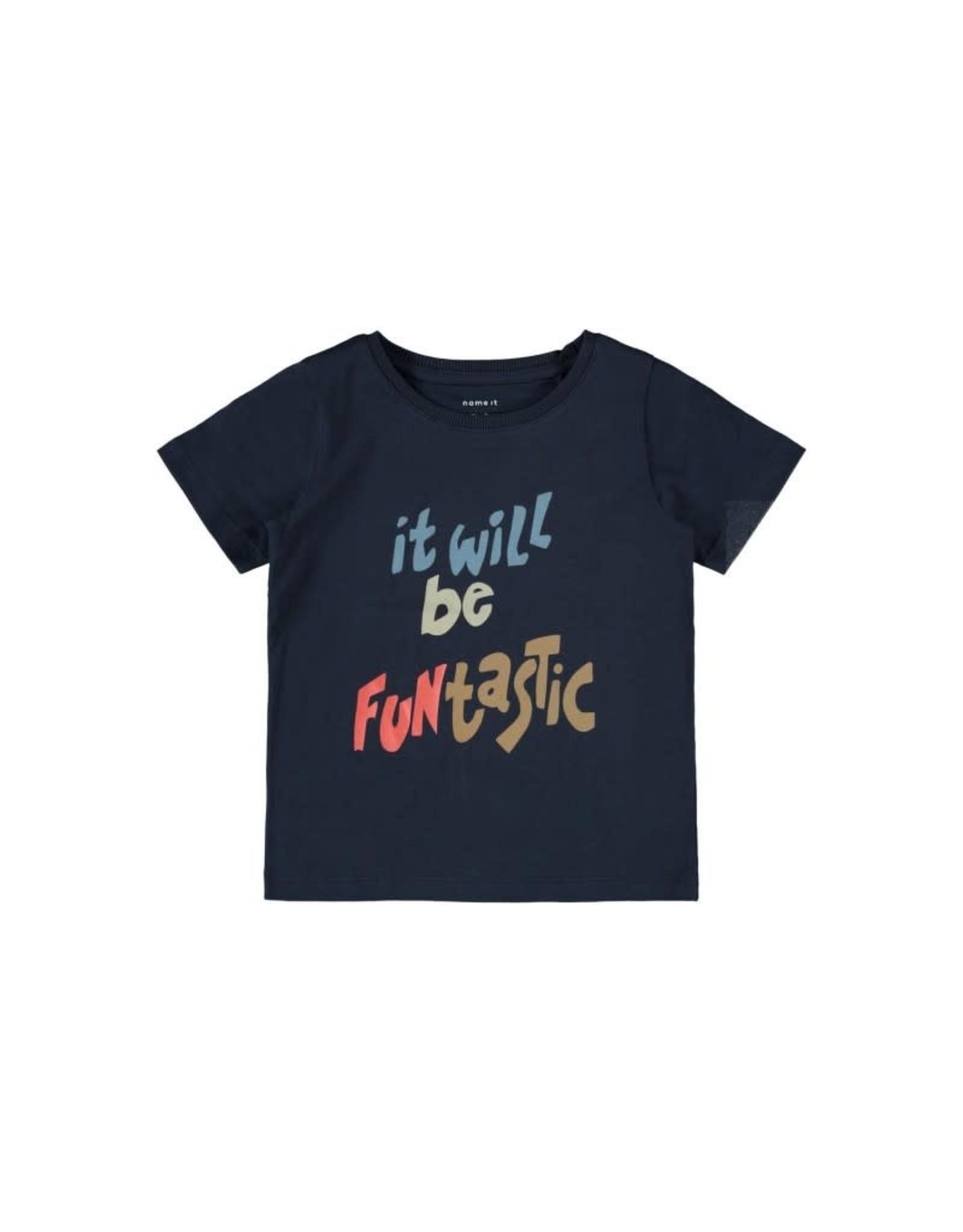 Name It Blauwe leuke basis t-shirt