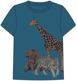 Name It Blauwe t-shirt met wilde dieren