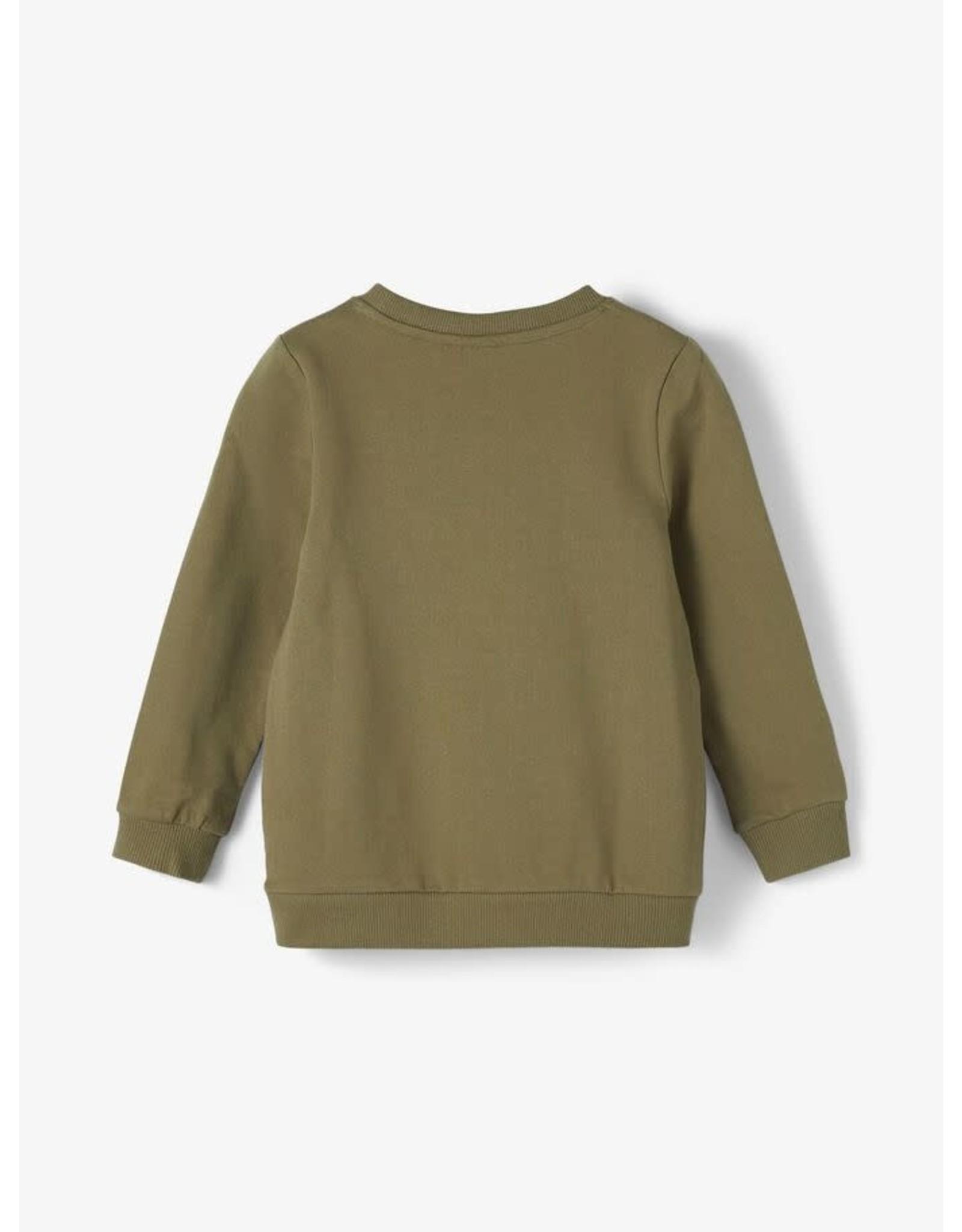 Name It Groene trui met hamerhaai
