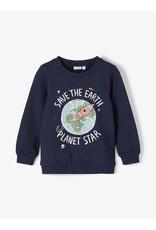Name It Donkerblauwe lichte trui met raket