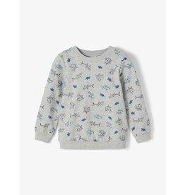 Name It Grijze lichte trui met haaien en hamerhaaien