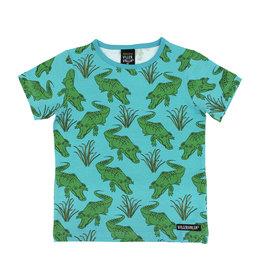 Villervalla T-shirt met all-over krokodillen print