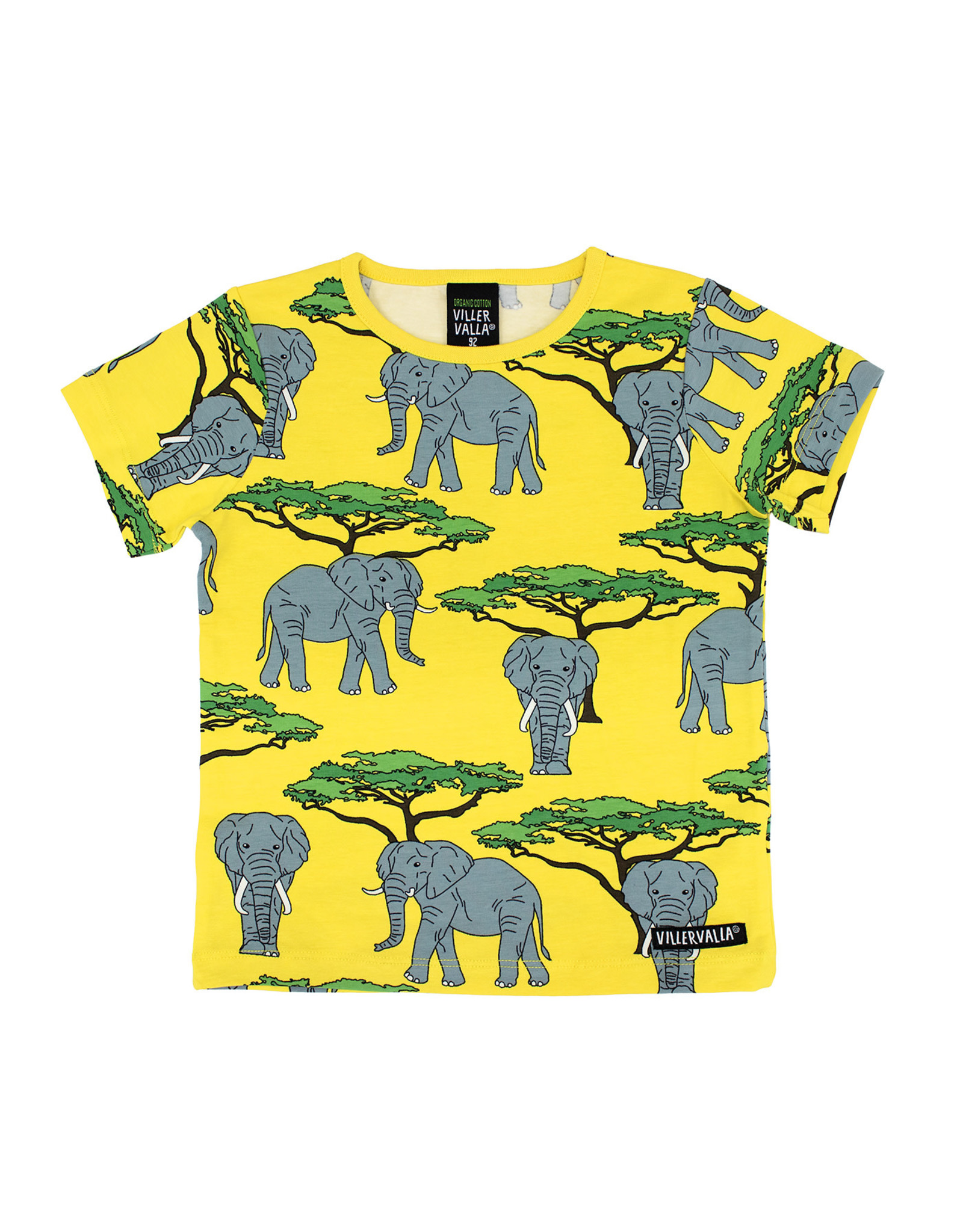 Villervalla Gele t-shirt met olifanten