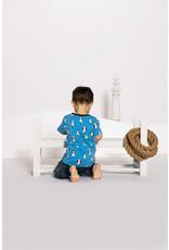 Villervalla Blauwe t-shirt met zeemeeuwen