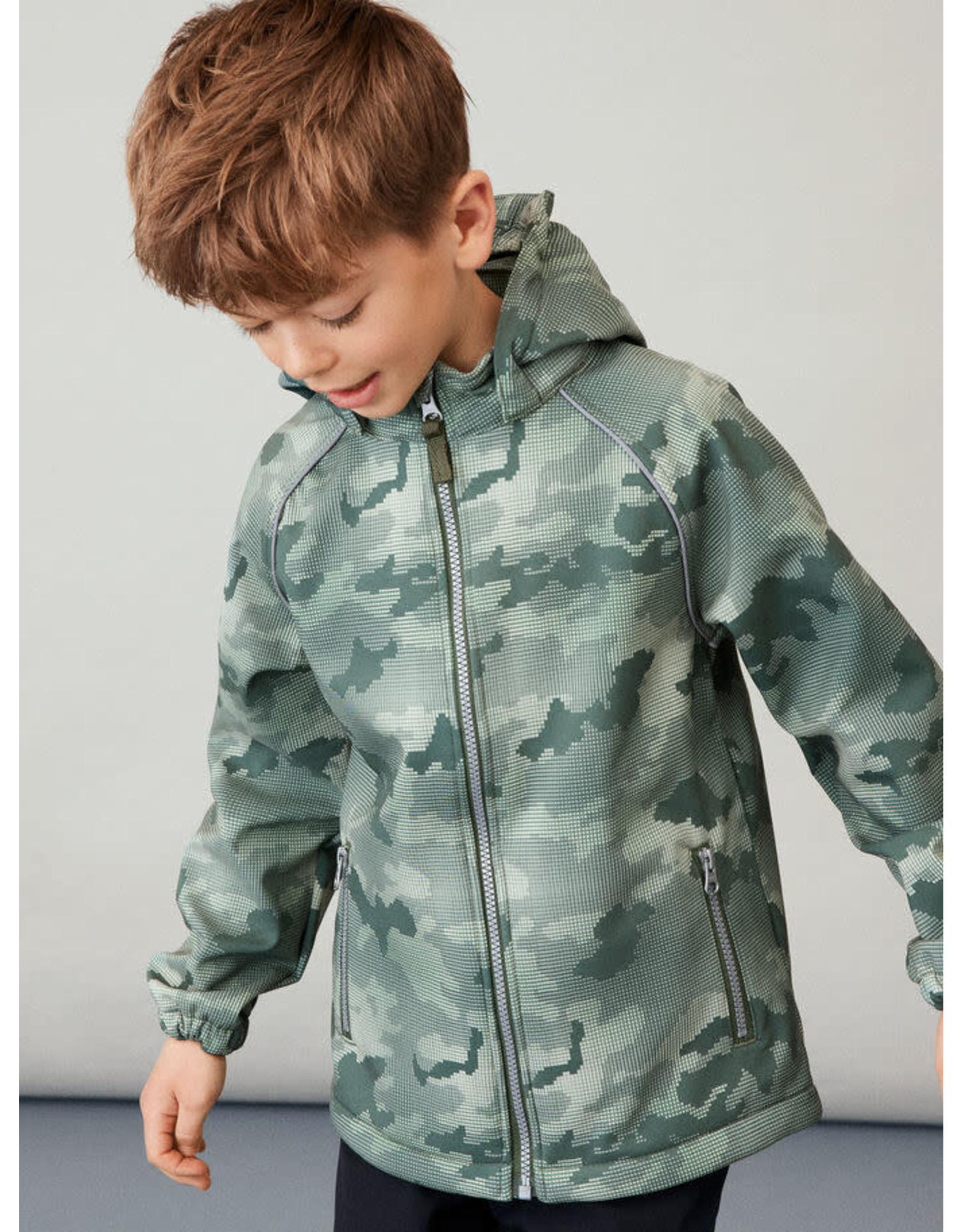Name It Camouflage softshell tussenseizoen