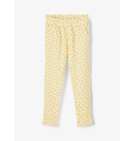 Name It Geel jogging broekje voor kleine meisjes