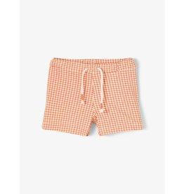 Name It Katoenen geruite meisjes short oranje
