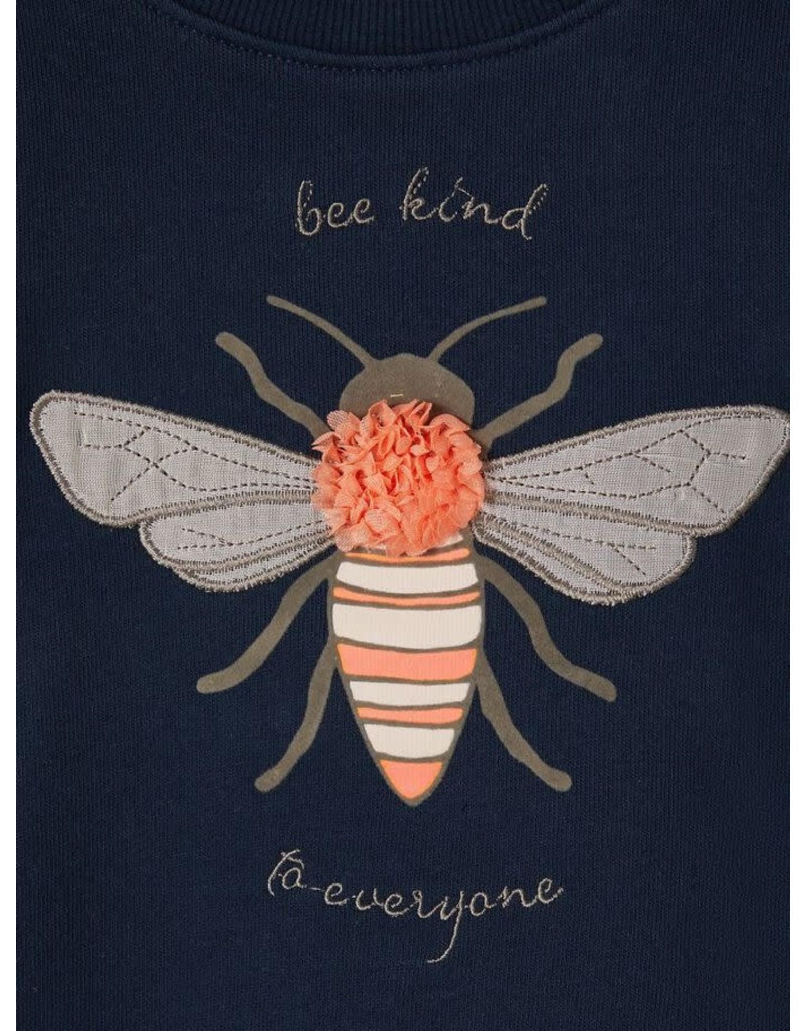 Name It Leuke blauwe meisjestrui met bijenprint