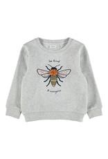 Name It Grijze meisjestrui met bijenprint