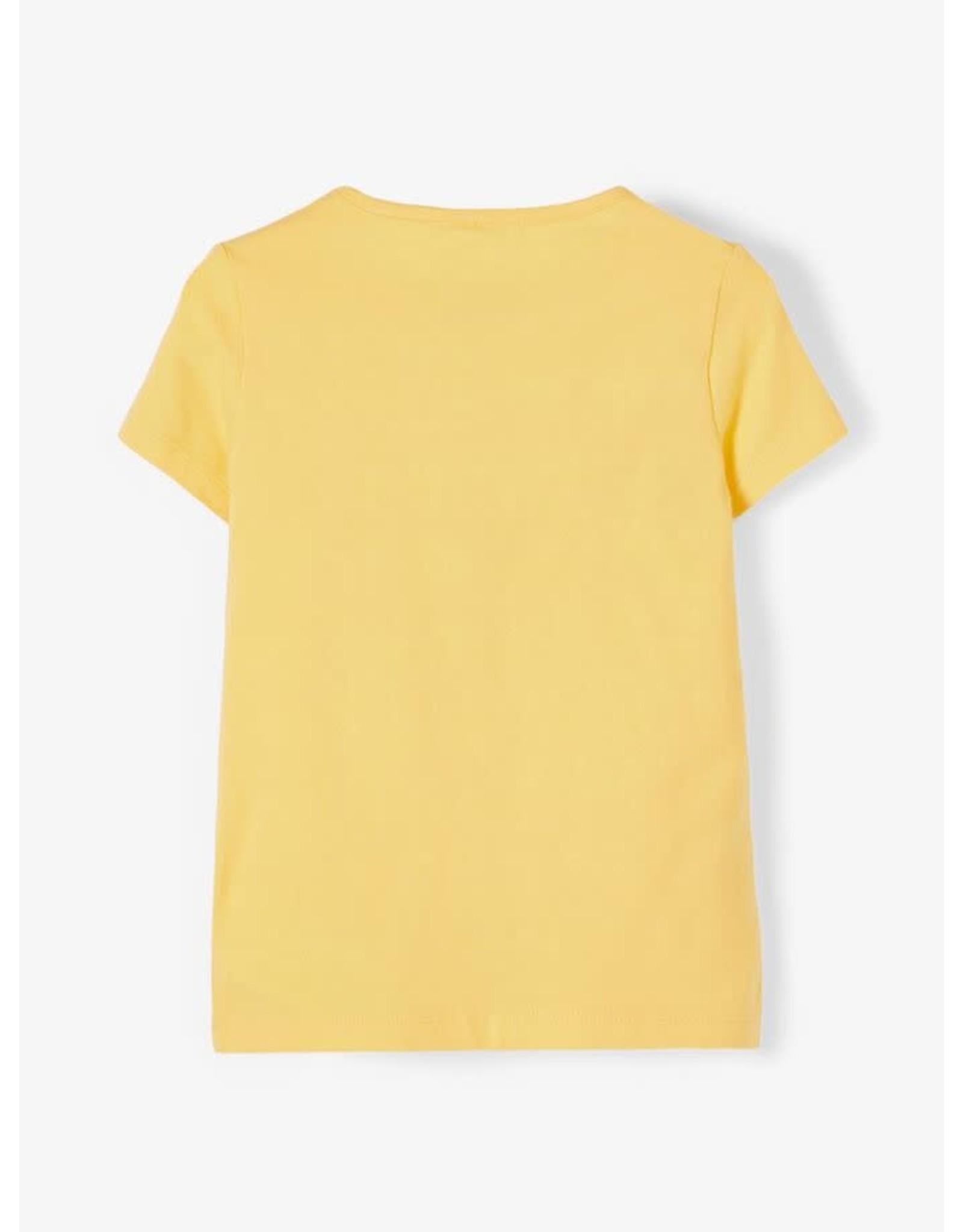 Name It Vrolijk bedrukte gele t-shirt