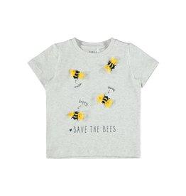 Name It Grijze t-shirt met bijtjes