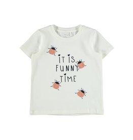 Name It Witte t-shirt met lieveheersbeestjes