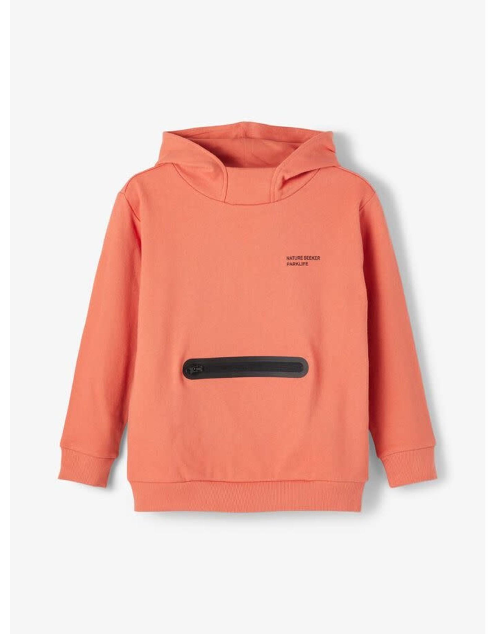 Name It Abrikoos kleurige unisex hoodie