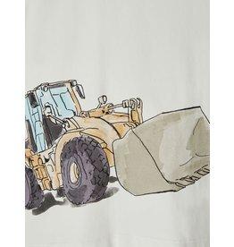 Name It Witte t-shirt met grote graafmachine
