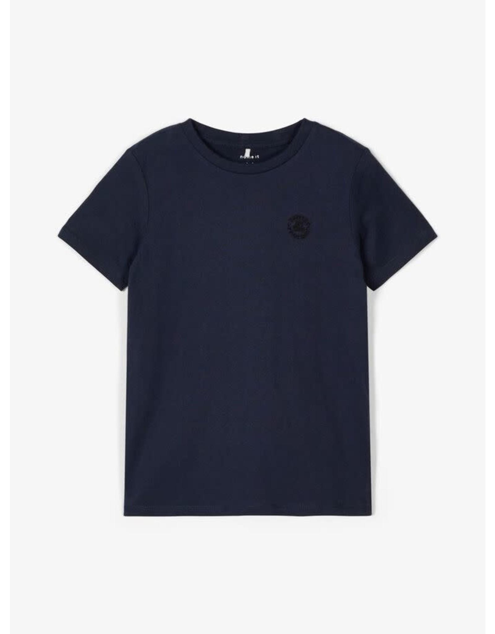 Name It Basis donkerblauwe t-shirt