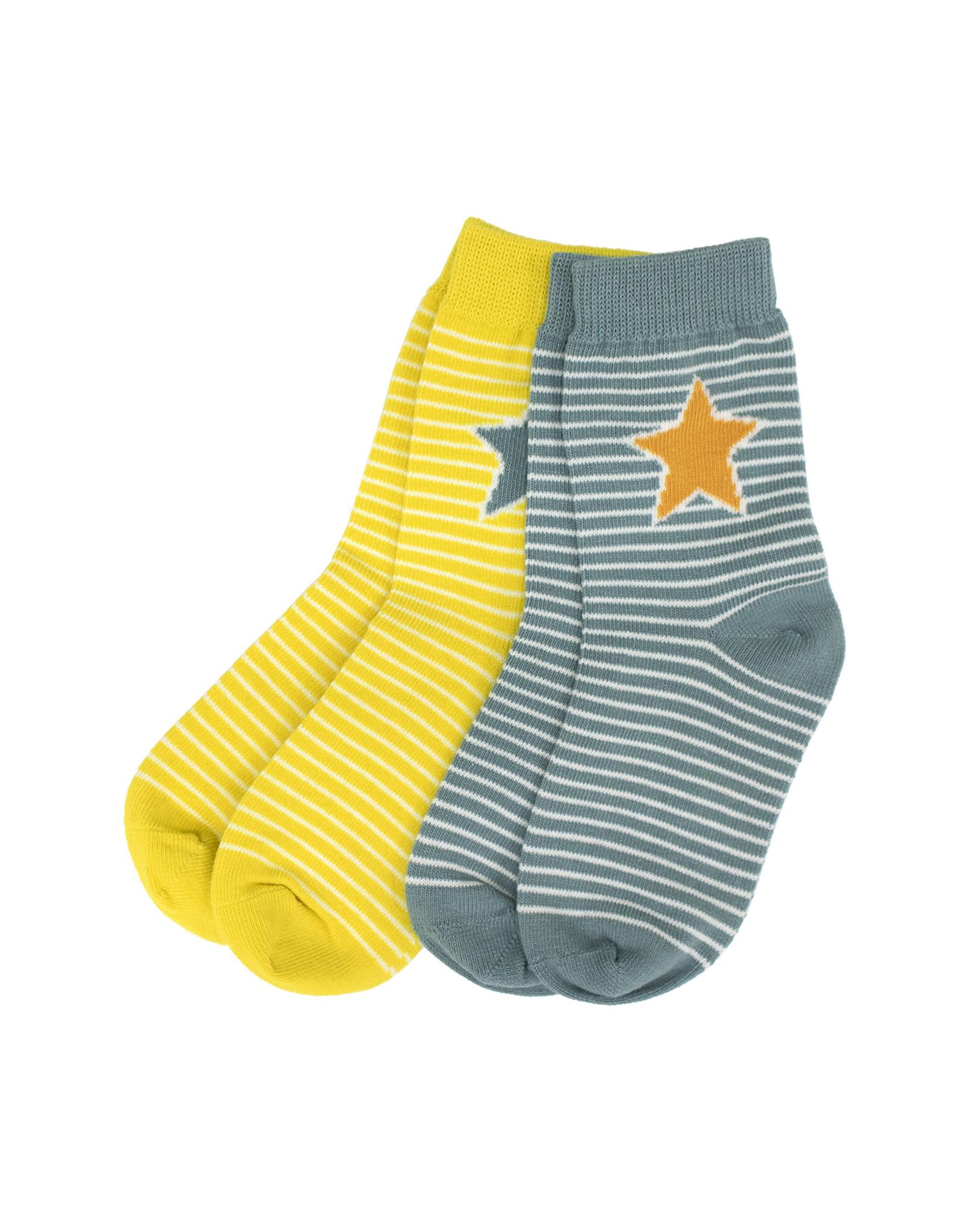 Villervalla 2-pack vrolijk gestreepte sokken