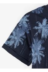 Name It Tropische palmbomen t-shirt donkerblauw