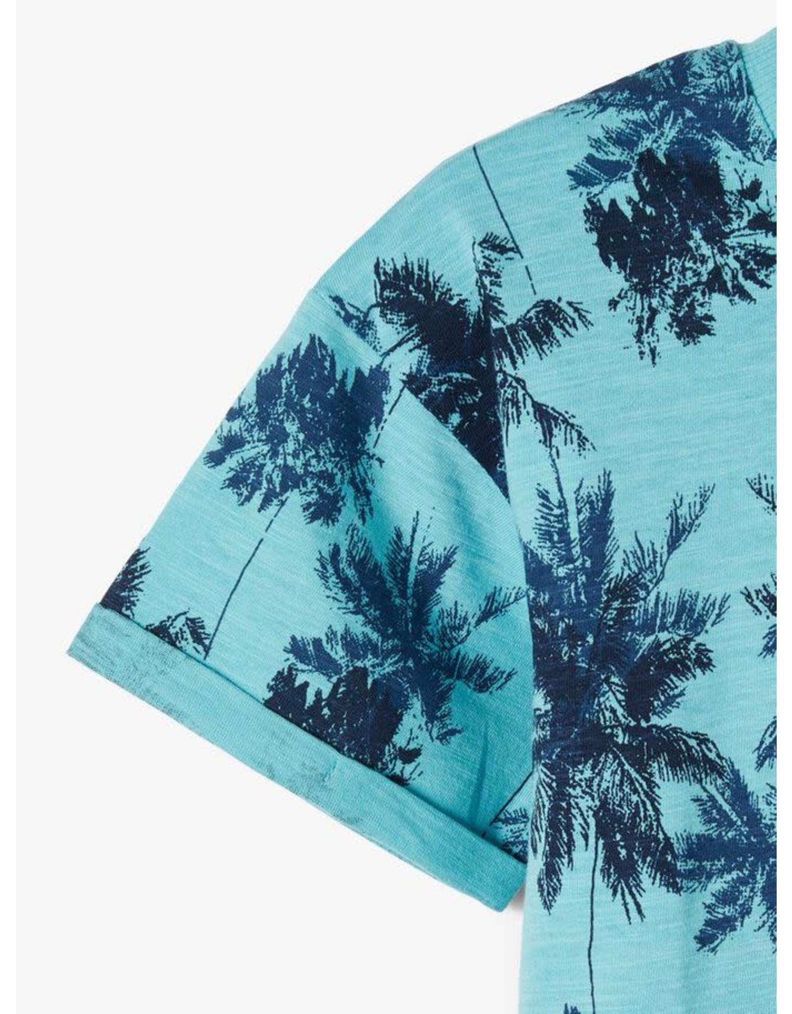 Name It Aqua blauwe palmbomen print t-shirt