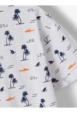 Name It Witte palmbomen t-shirt