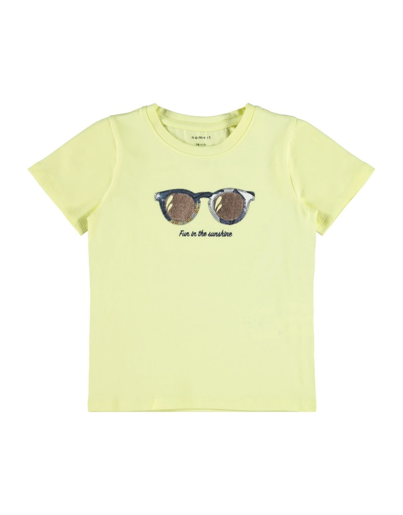 Name It Gele meisjes t-shirt met zonnebril