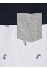Name It Blauw-witte t-shirt met kleine palmbomen