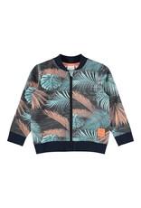 Name It Vest met rits en tropische print