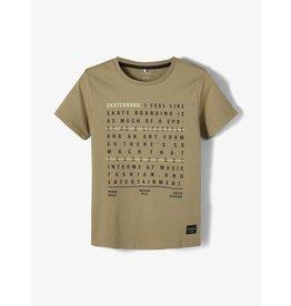 """Name It Groene bedrukte """"skate"""" t-shirt"""