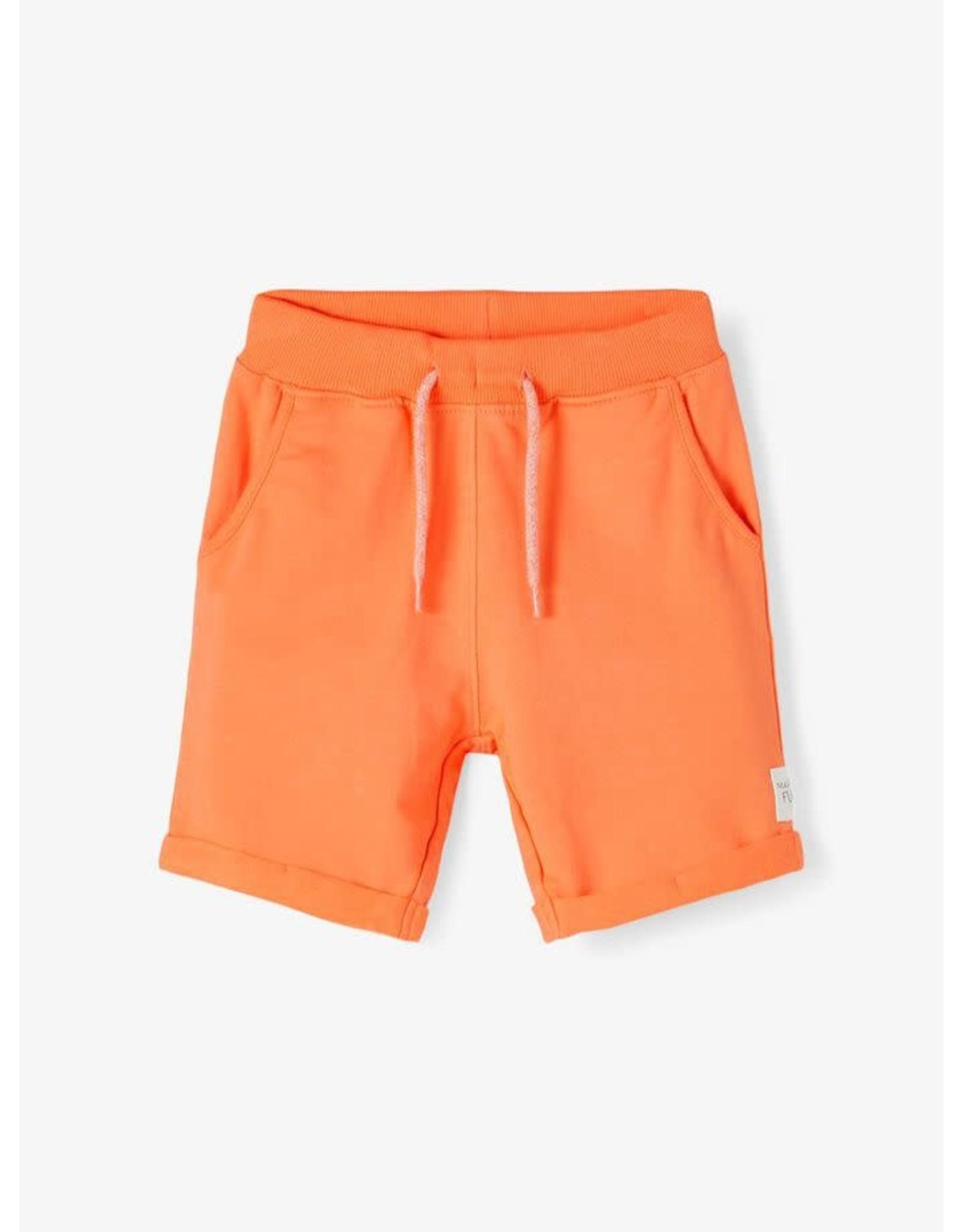 Name It Oranje sweatstof short