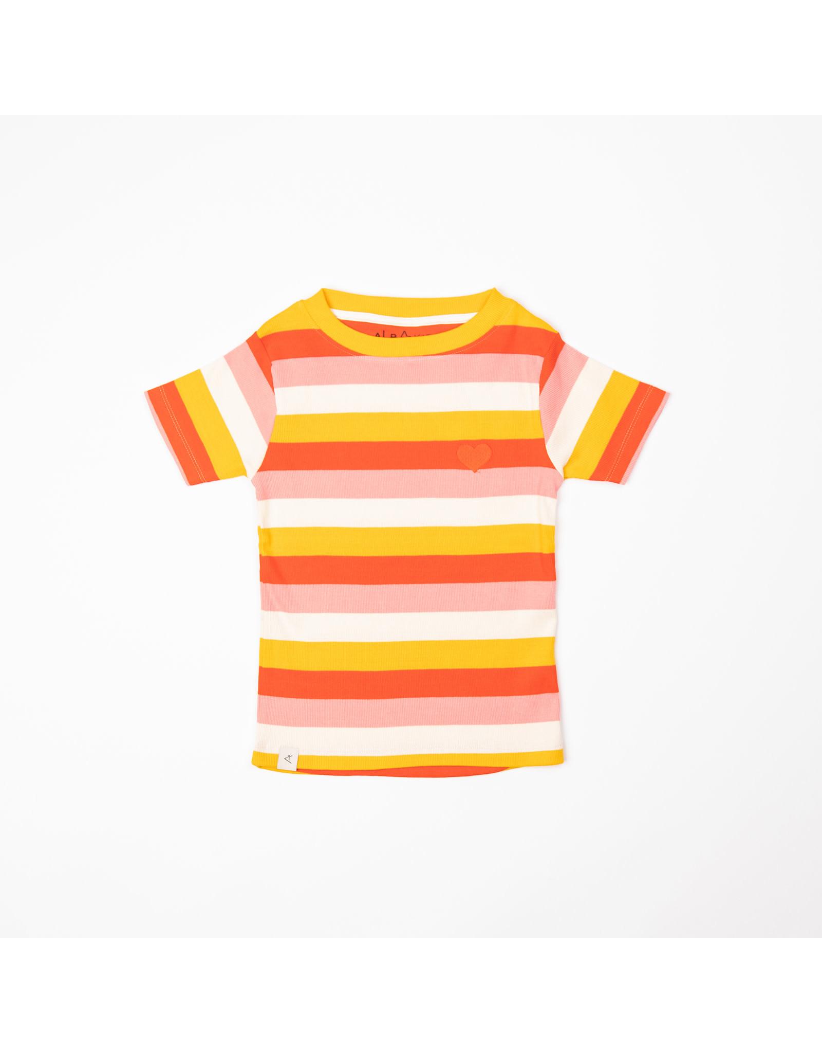 ALBA of Denmark Vrolijk gestreepte meisjes t-shirt