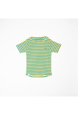 ALBA of Denmark Vrolijk geel-blauw-wit gestreepte t-shirt