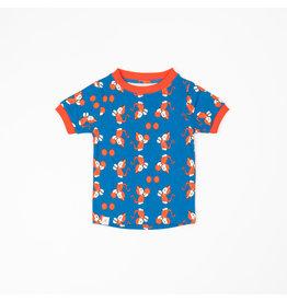 ALBA of Denmark Blauwe t-shirt met poezen en ballonnen