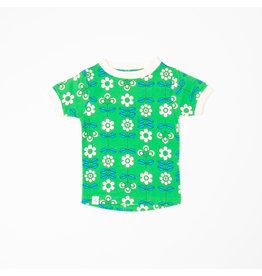 ALBA of Denmark Groene t-shirt met retro bloemen print