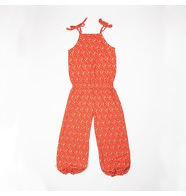 ALBA of Denmark Oranje jumpsuit met kleine bloemetjes