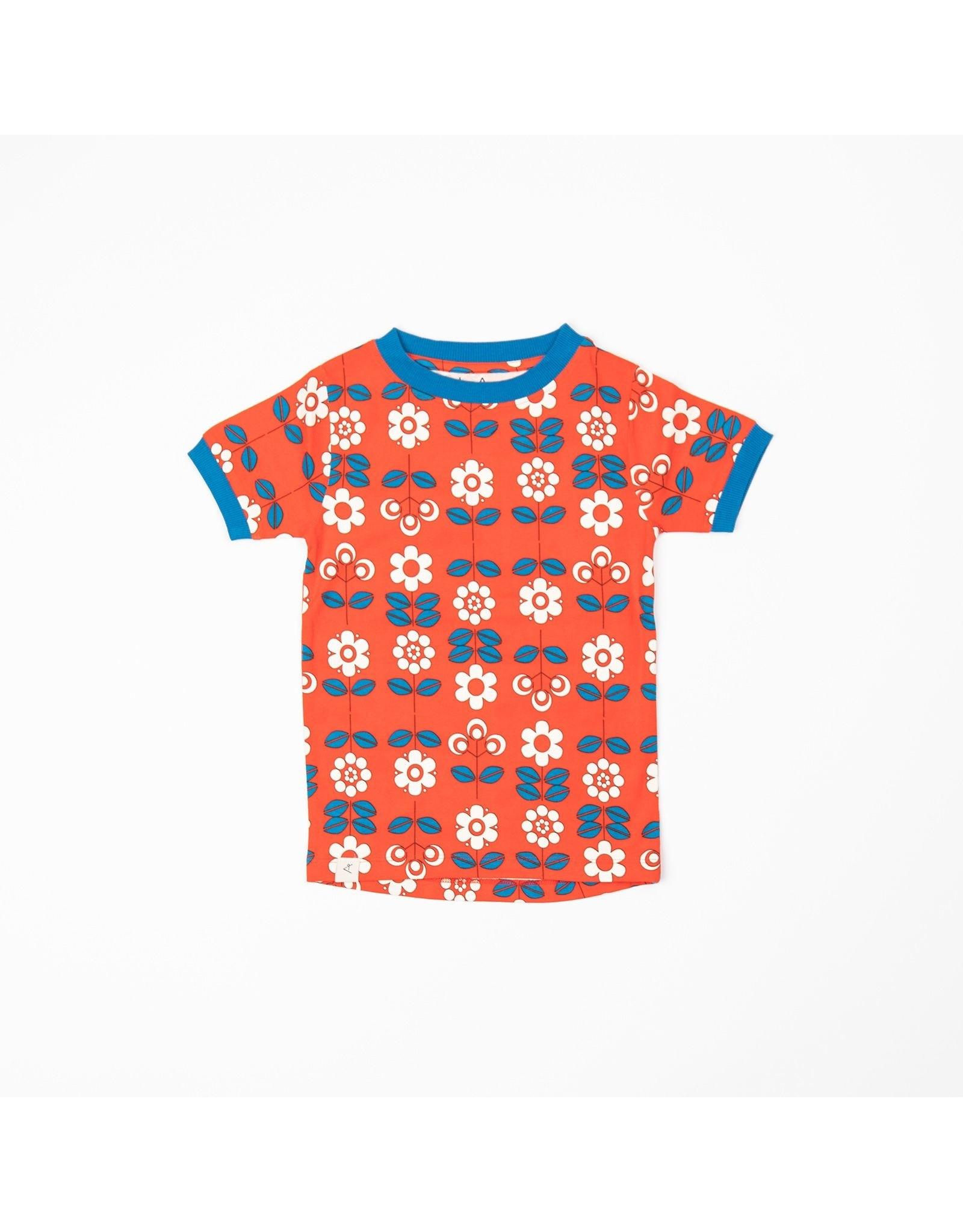 ALBA of Denmark Retro rode t-shirt met bloemen print