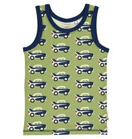 Maxomorra Mouwloze t-shirt/ onderlijfje met auto print
