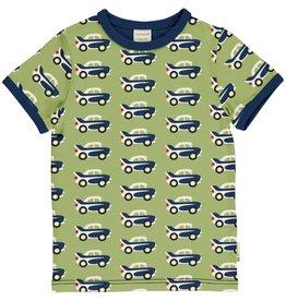 Maxomorra T-shirt met retro auto print