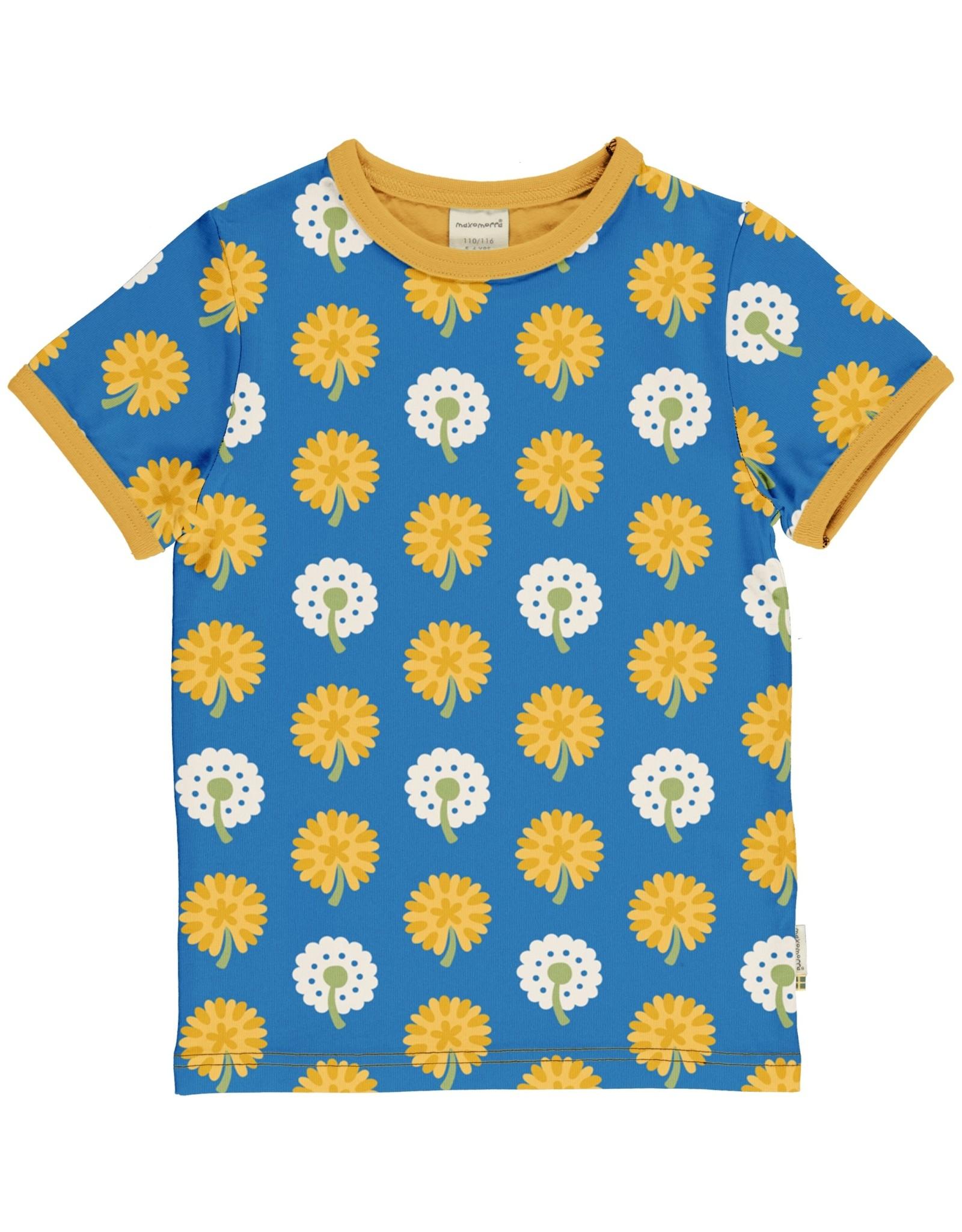 Maxomorra T-shirt met paardebloemen print