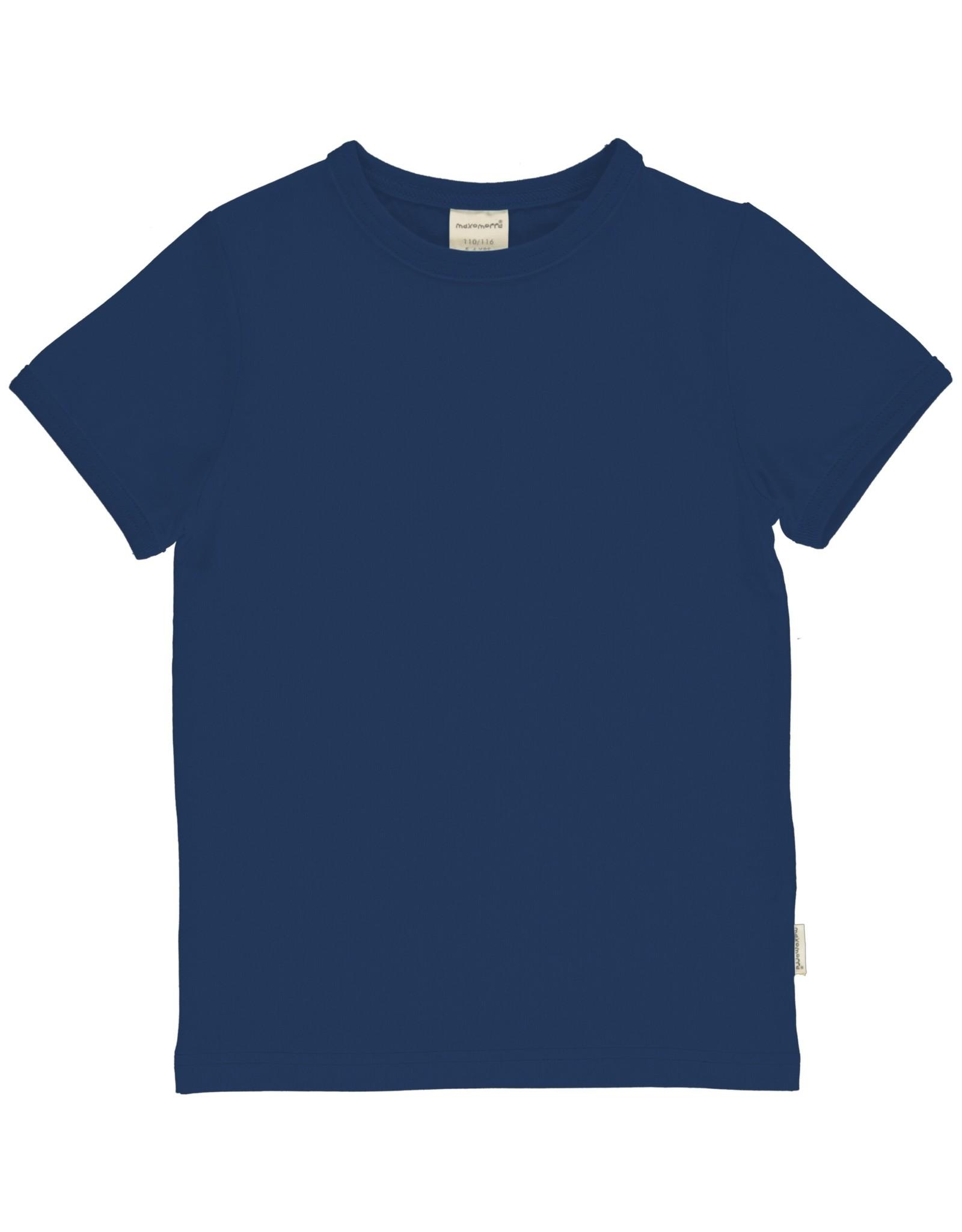 Maxomorra Effen blauwe t-shirt
