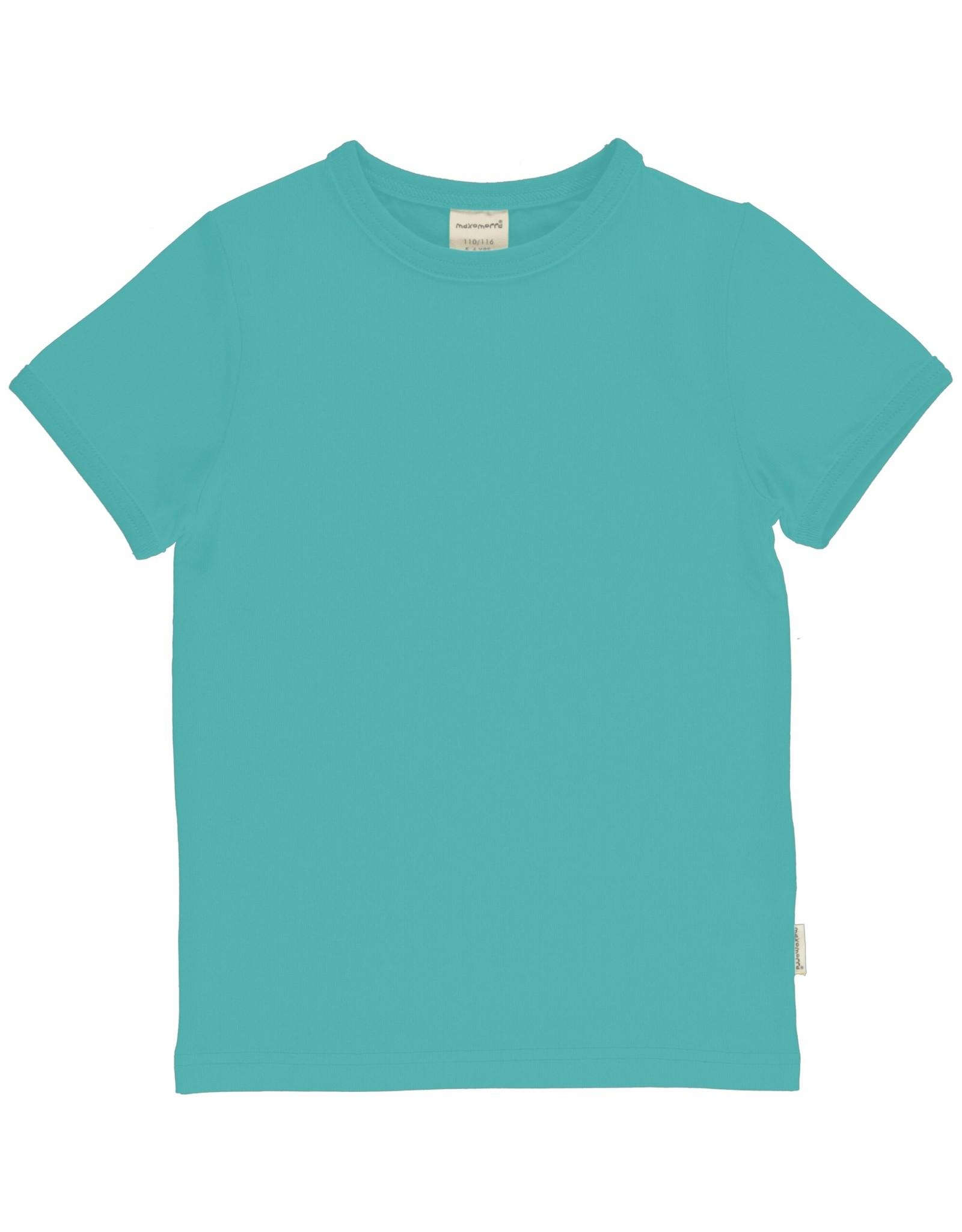 Maxomorra Effen aqua blauwe t-shirt