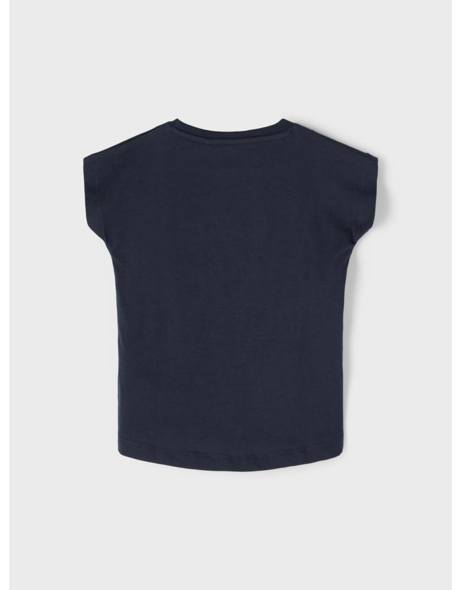 Name It Basis blauwe bedrukte t-shirt voor kleine meisjes