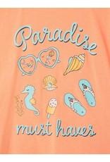 Name It Basis oranje bedrukte t-shirt voor kleine meisjes
