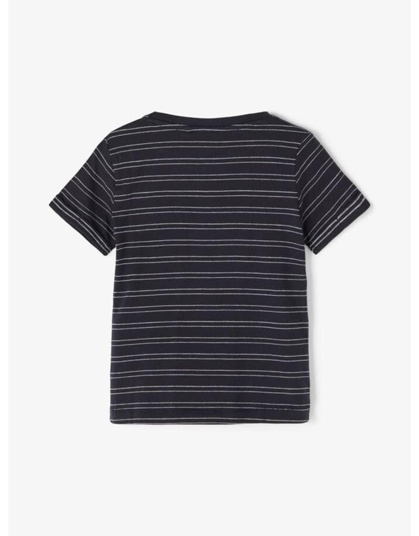 Name It Gestreepte t-shirt donkerblauw
