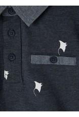 Name It Donkerblauwe polo met roggen print