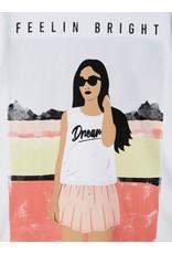 Name It Leuke bedrukte witte meisjes t-shirt