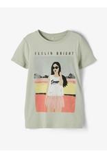 Name It Groene bedrukte meisjes t-shirt