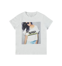 Name It Witte NASA t-shirt voor stoere grieten