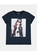 Name It Donkerblauwe NASA t-shirt voor meisjes